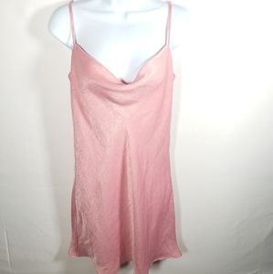 Sadie & Sage Pink Silky Slip Dress Size Small